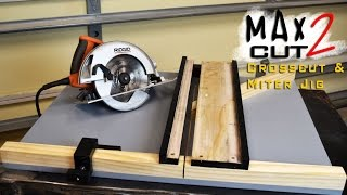 Making Circular Saw Crosscut & Miter Jig The MAX CUT 2  | Limited Tools Episode 003