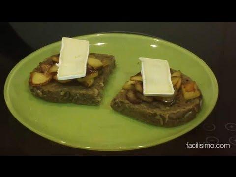 Cómo hacer una tosta con manzana y queso brie | facilisimo.com