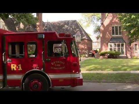 Woman injured after tree, wires fall in yard in Detroit