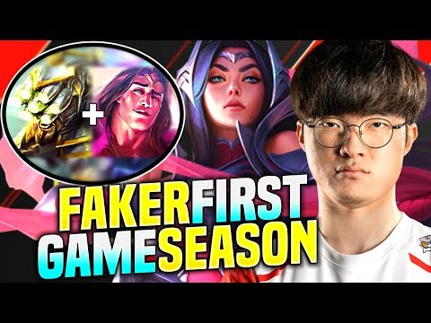 FAKER PLAYS THE FIRST GAME OF NEW SEASON VS YI+TARIC BOOSTING STRATEGY! | S10 KR SoloQ Patch 10.1