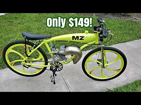 What Can a $150 Ported PK80 Motor Do? - 40MPH + - 80cc - Fast - Motorized Bike!