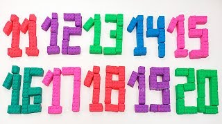 Learn Numbers with Kinetic Sand Mad Mattr | 1 to 20 | Make Numbers with Lego Kinetic Sand for Kids