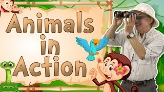 Animals in Action | Movement Song for Kids | Jack Hartmann