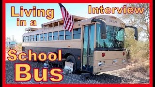 Living in a Skoolie!! - Dash the Bus INTERVIEW