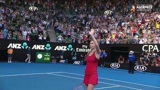 Simona Halep, în premieră în finala Australian Open, după o victorie în 3 seturi cu Kerber
