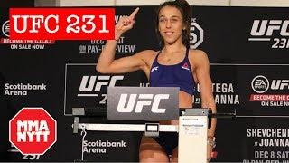JOANNA JEDRZEJCZYK AND VALENTINA SHEVCHENKO UFC 231 WEIGH-INS