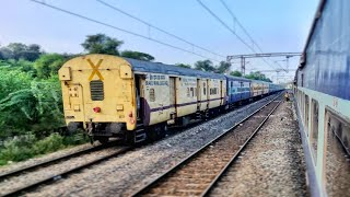 Alappuzha Express   3 Parallel Actions from Palakkad to Chennai & Overtake by Shatabdi Express
