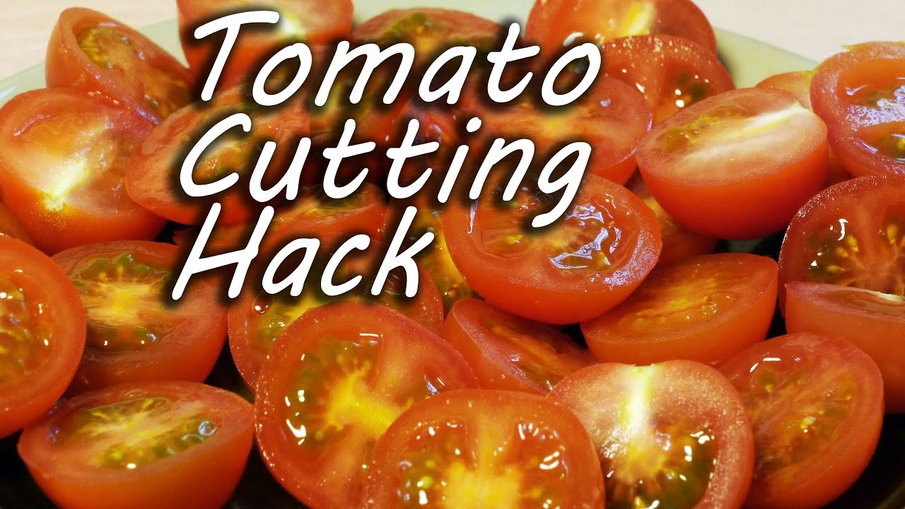 Cut cherry tomatoes like a ninja