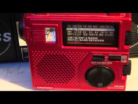 Radio Slovakia on Grundig FR 200 Hand Crank shortwave radio
