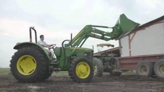 Tractor 5415 y cargador 553 John Deere