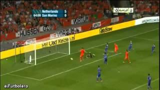 Euro 2012 Qualifiers - Netherlands 11-0 San Marino | Highlights (3/9/2011)