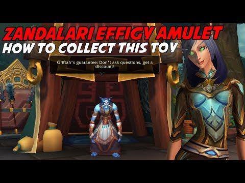 Zandalari Effigy Amulet Toy - Horde BFA Trading Circuit