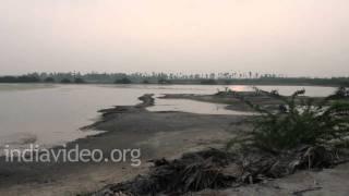 A salt field at Machilipatnam