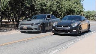 Dodge HELLCAT vs Nissan GTR