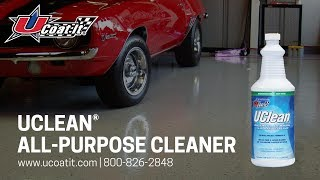 Cleaning Your Epoxy Floor Coating with UCLEAN from UCoat It