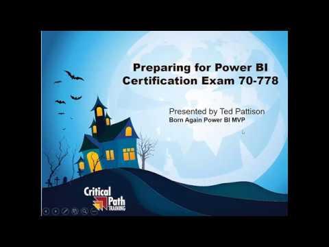 Preparing for Power BI Certification Exam 70-778: Level 1 - YouTube
