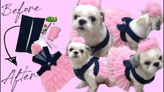 DIY Dog Dress (Pink Costume Tutu Denim Princess Party)| DIY Clothing Transformations | PHILIPPINES