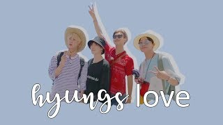 hyungs love | bangtan's hyung line