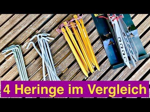 4 Verschiedene Zelt Heringe, Hilleberg, Titan und ganz billig - ein Vergleich