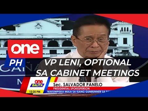 Palasyo, may sagot sa pagliban ni VP Robredo sa cabinet meetings | ONE BALITA