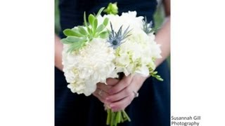 What Colors For A Wedding Go Well With Blue Bridesmaid Dresses? : Wedding Flowers