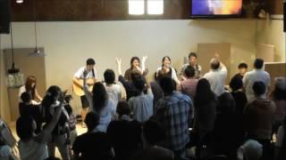 2017 6 3 Jesus Cafe House worship service 礼拝賛美④ほむべきかなイスラエルの神(C➡D)