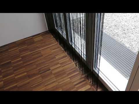 Fadenvorhang GARDA in schwarz auf Mass | vorhangbox.ch