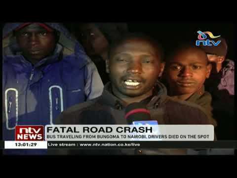 10 people died after Greenline bus collided with a lorry at Kamara, Molo