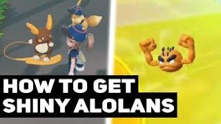 How To Get Shiny Alola Forms In Pokémon Let's Go Pikachu / Eevee! (Shiny Alolan Pokémon)
