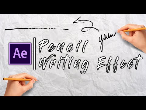 Pen Writing Text Effect | Tutorial Adobe After Effects 2018 CC | Easiest Way!