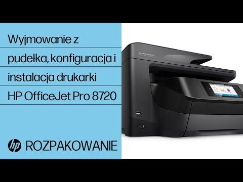 Wyjmowanie z pudełka, konfiguracja i instalacja drukarki HP OfficeJet Pro 8720