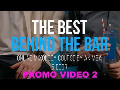 """Mixology online course """"The best behind the bar"""" Promo 2 + free lesson"""