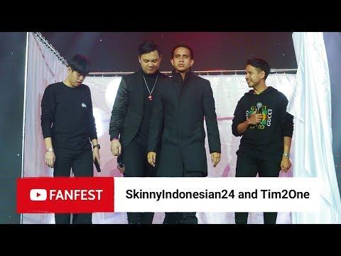 Download SkinnyIndonesian24 & Tim2one @ YouTube FanFest Jakarta 2018 HD Mp4 3GP Video and MP3