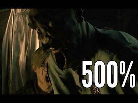 把《惡靈古堡 2 重製版》人物表情變成500% 看里昂有多驚恐