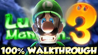 Luigi's Mansion 3 - FULL GAME 100% Walkthrough 🔴LIVE (All Gems & All Boos)