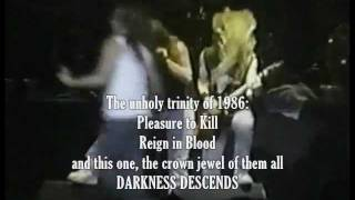 Is DARKNESS DESCENDS The Best Thrash Album?