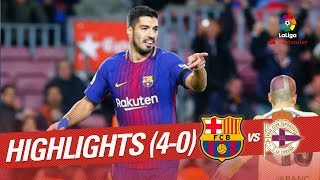 Resumen de FC Barcelona vs RC Deportivo (4-0)