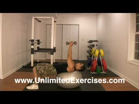 Stability Ball - Dumbbell Russian Twist