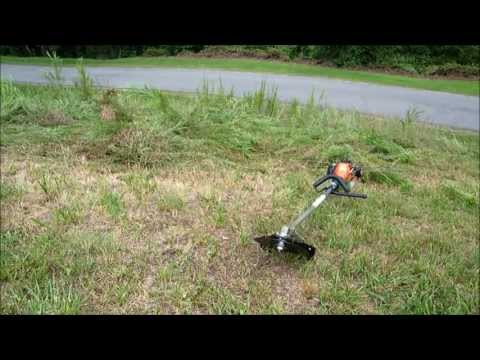 blade & Echo weed eater destroying weeds