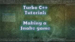 Turbo C++ Tutorials : Making a Snake Game  PART 1-------------------------------------------------------------------------------------Visit website: http://sites.google.com/site/tcpptutorials