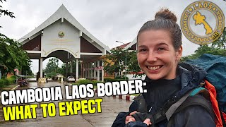 Border Crossing CAMBODIA TO LAOS BY BUS | Asia Travel