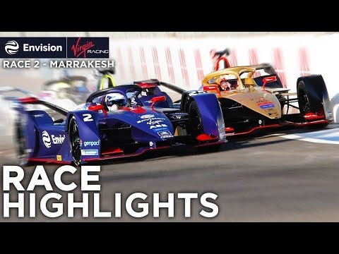 Formula E Marrakesh E-Prix Race Highlights! (Envision Virgin Racing)