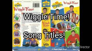The Wiggles - Song Titles From Wiggle Time! (1998)