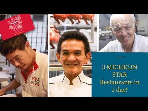⭐⭐⭐3 Different Michelin star Restaurants in one day!!!! Singapore (2019)