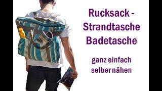 Rucksack - Strandtasche – Badetasche selber nähen