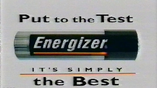 """Energizer """"Put to the Test. It's Simply the Best"""" (1999)"""