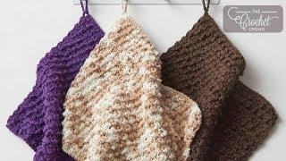 Crochet Nubbly Stitch - Beginner Dishcloth
