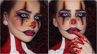 Sultry/Creepy Clown   Halloween Makeup Tutorial