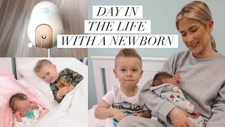 Day in the life with a newborn + Cubo Ai baby monitor review and demo