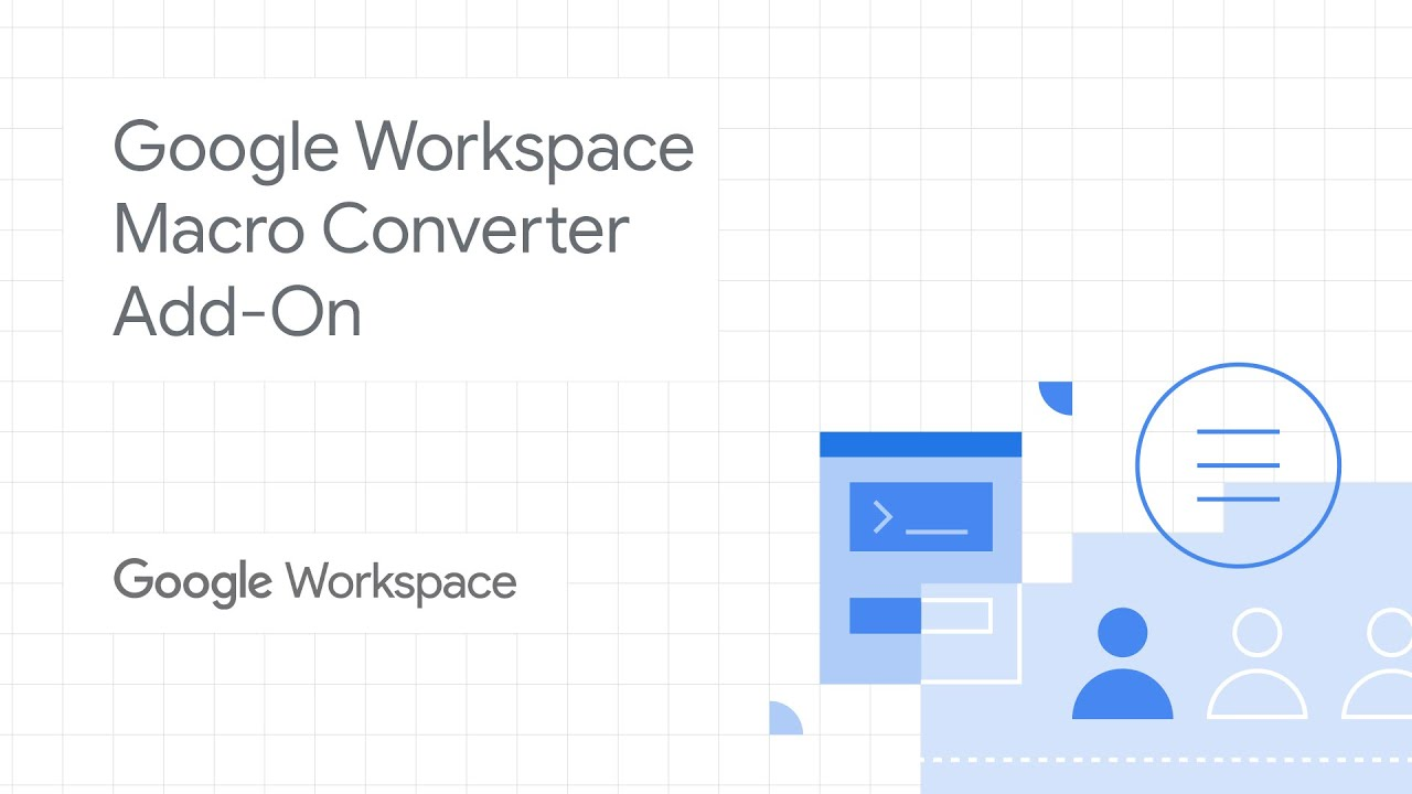 Macros are used by enterprises to power internal processes as well as data management. In this video, we demo Google Workspace's Macro Converter Add-on, and show you how you can migrate VBA macros to Google Sheets and Apps Script. Watch to learn how you can easily adapt existing macros!